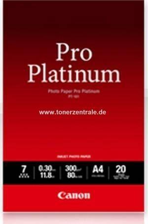 Canon Fotopapier PT101 Pro Platinum mit Hochglanzfinish - A3+/300g/20 Blatt font color=orangeACHTUNG! Artikel eingestellt. Mögliche Alternativen bitte anfragen!/font