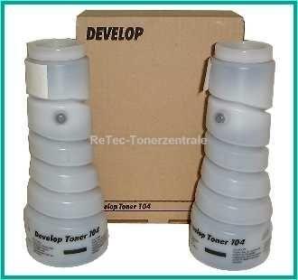 2 x 270g Develop Toner Typ 104 - D-1502, 1801 (8936-3060-00) font color=orangeACHTUNG! Artikel eingestellt. Mögliche Alternativen bitte anfragen!/font