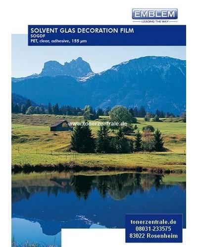EMBLEM SOGDF-54 Solvent Glas Decor Film 155my 1372mmx20m PVC, clear, adhesive