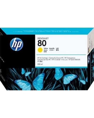 HP DesignJet 1050 - No. 80 C4848A Druckerpatrone - 350ml Yellow