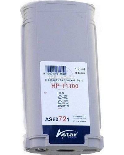 Astar Tintenpatrone (ersetzt HP No. 72 - C9403A) 130ml Matt Schwarz