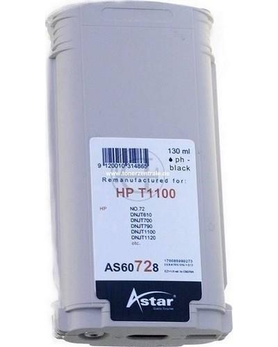 Astar Tintenpatrone (ersetzt HP No. 72 - C9370A) 130ml Photo Schwarz