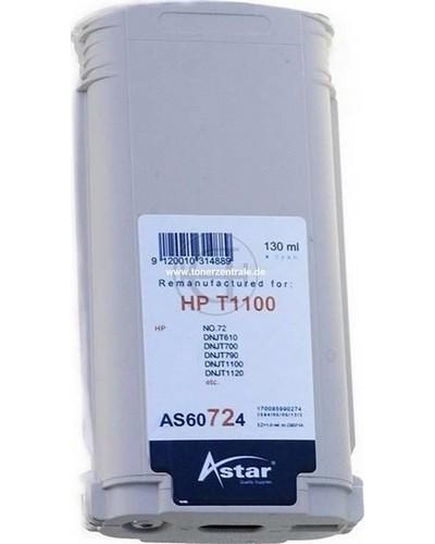 Astar Tintenpatrone (ersetzt HP No. 72 - C9371A) 130ml Cyan
