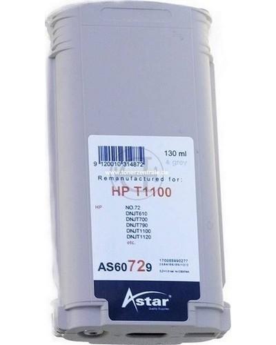 Astar Tintenpatrone (ersetzt HP No. 72 - C9374A) 130ml Grey
