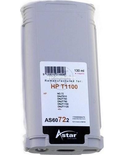 Astar Tintenpatrone (ersetzt HP No. 72 - C9372A) 130ml Magenta
