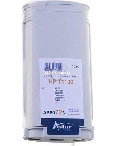 Astar Tintenpatrone (ersetzt HP No. 72 - C9373A) 130ml Yellow