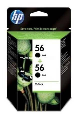 No. 56 - C9502A - HP Doppelpack (2 x C6656A) Tintenpatrone (2x19ml) Schwarz