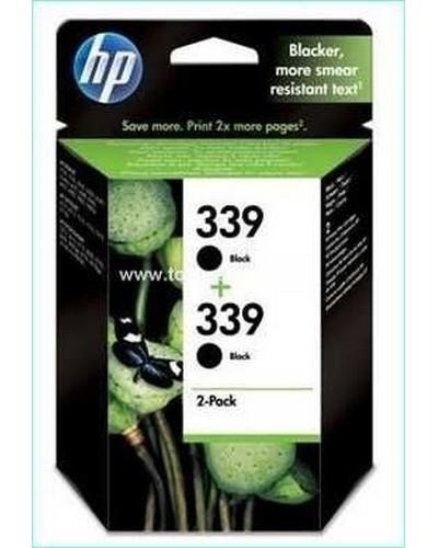 No. 339 - C9504E - HP Doppelpack (2 x C8767A) Tintenpatrone (2x21 ml) Schwarz