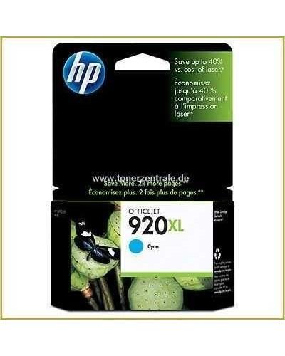 HP Druckerpatrone No. 920XL CD972AE Cyan 700 Seiten