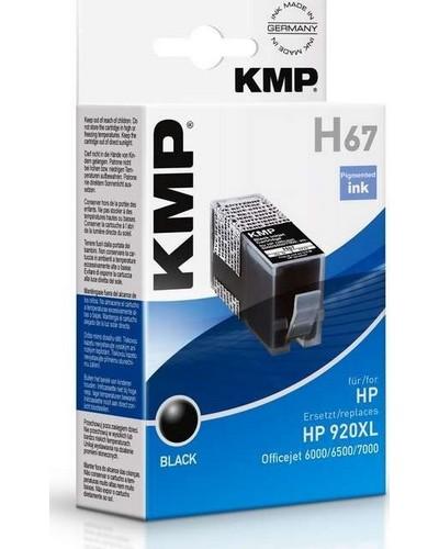 KMP H67 - Refill Tintenpatrone mit Chip (ersetzt HP No.920XL) 1.200 Seiten Schwarz
