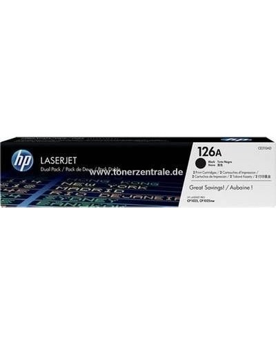 HP CE310AD - Toner 126A - Doppelpack 2 x 1.200 Seiten Schwarz