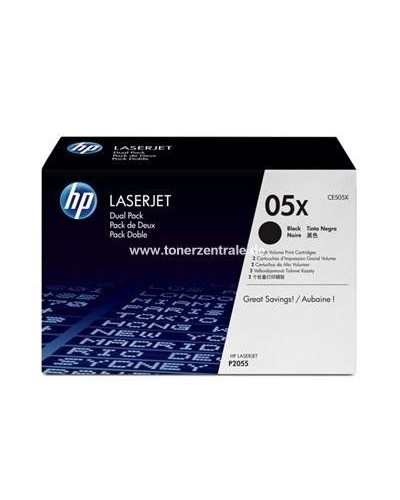 HP LaserJet P2055 - Toner CE505XD 05XD Doppelpack - 2 x 6.500 Seiten Schwarz
