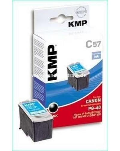 KMP C57 (ersetzt Canon PG40) Tintenpatrone (16ml) Schwarz