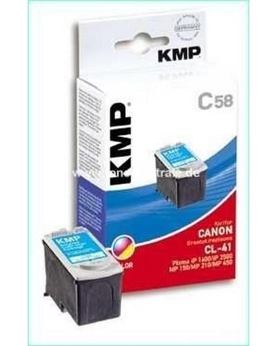 KMP C58 (ersetzt Canon CL41) Tintenpatrone (12ml) Color