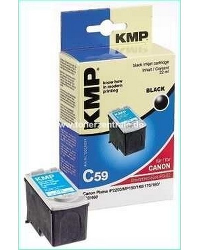 KMP C59 (ersetzt Canon PG50) Tintenpatrone (22ml) Schwarz