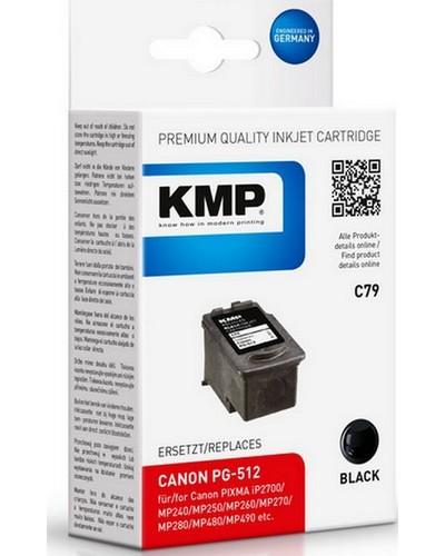 KMP C79 (ersetzt Canon PG512) Tintenpatrone HC (15ml) Schwarz