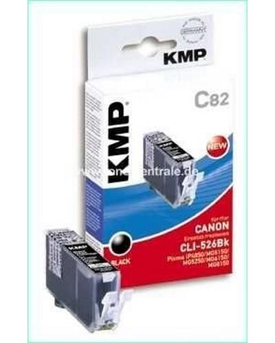 KMP C82 Tintenpatrone (ersetzt Canon CLI526) 9ml Schwarz