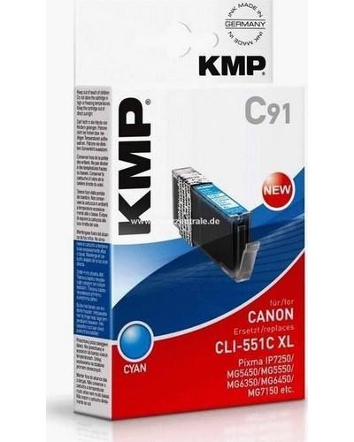 KMP C91 Tintenpatrone (ersetzt Canon CLI-551CXL) - 715 Seiten Cyan