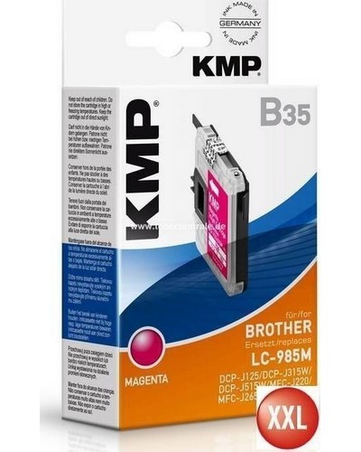 KMP B35 XXL Tintenpatrone (ersetzt Brother LC985) 14ml, 900 Seiten Magenta