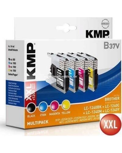KMP-B37V - Tintenpatrone (ersetzt Brother LC1240VALBP) Multipack 600 Seiten Schwarz je 1.000 Seiten Cyan-Magenta-Yellow