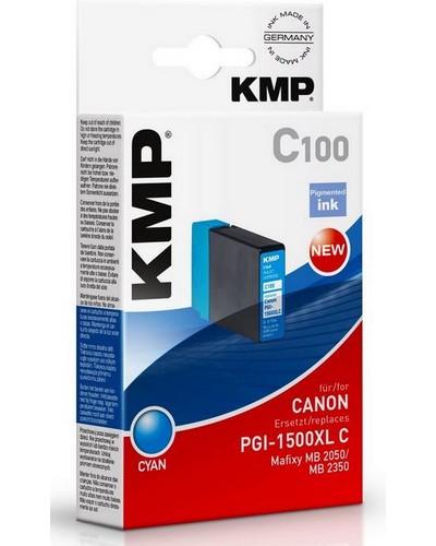 KMP C100 - ersetzt Canon Druckerpatrone PGI1500XLC - 1.020 Seiten Cyan