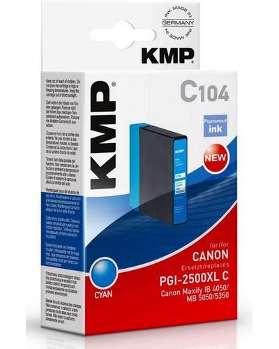 KMP C104 - ersetzt Canon Druckerpatrone PGI2500XLC - 1.755 Seiten Cyan