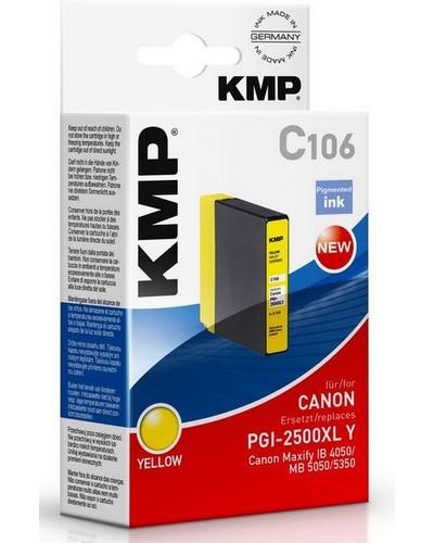 KMP C106 - ersetzt Canon Druckerpatrone PGI2500XLY - 1.755 Seiten Yellow
