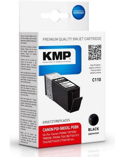 KMP C110 ersetzt Canon Druckerpatrone PGI580PGBK XL Schwarz 600 Seiten