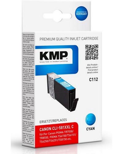 KMP C112 ersetzt Canon Druckerpatrone CLI581 XXL Cyan 820 Seiten