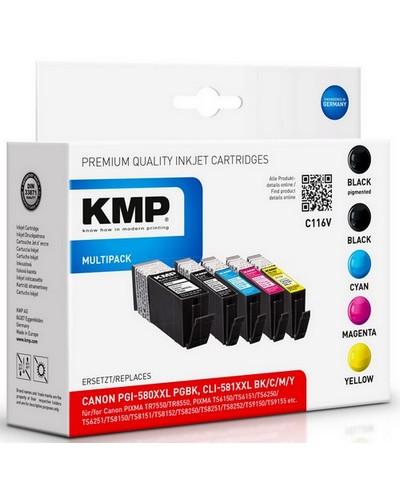 KMP C116 Multipack ersetzt Canon PGB580XL CLI581XXL