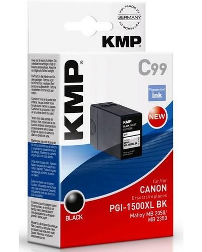 KMP C99 - ersetzt Canon Druckerpatrone PGI1500XLBK - 1.200 Seiten Schwarz