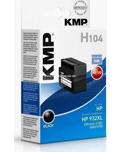 KMP H104 (ersetzt HP No. 932XL CN053AE) Druckkopfpatrone 1000 Seiten Schwarz