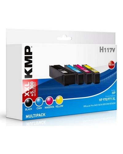 KMP H117V - ersetzt Multipack CN625AE 970XL 971XL - Schwarz, Cyan, Magenta, Yellow