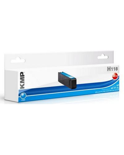 KMP H118 - ersetzt Druckerpatrone CN626AE 971XL - 6.600 Seiten Cyan