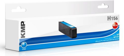 KMP H156 - ersetzt Druckerpatrone HP CN622AE 971 - 2.500 Seiten Cyan