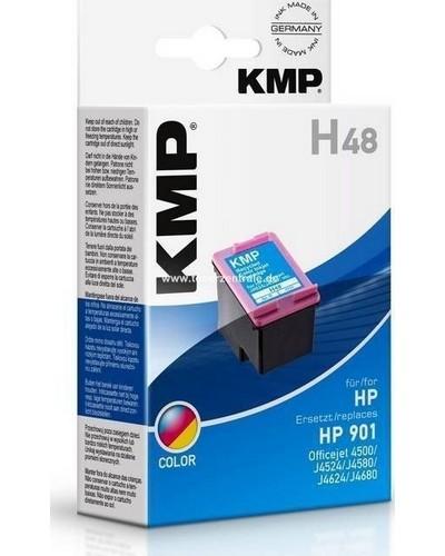 KMP H48XL Tintenpatrone - ersetzt HP No. 901XL CC656AE - HighCap. 9 ml Color