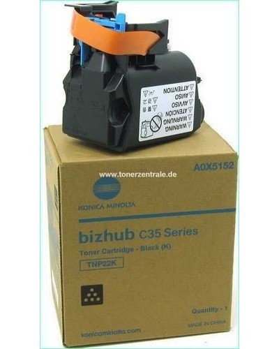 Konica Bizhub C35 Toner TNP22K Schwarz 6.000 Seiten
