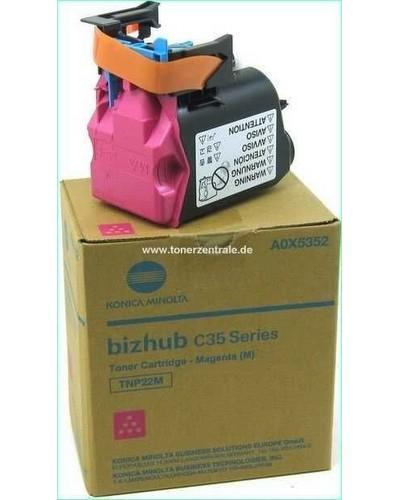 Konica Bizhub C35 Toner TNP22M Magenta 6.000 Seiten