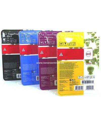 OCE ColorWave 600, 660 - Toner Pearls P1 298.000.58 - Rainbow-Kit je 1 x 500 Gramm Schwarz, Cyan, Magenta, Yellow