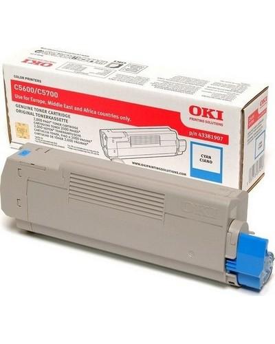 Oki C5600-5700 - Toner Cyan 43381907 2.000 Seiten