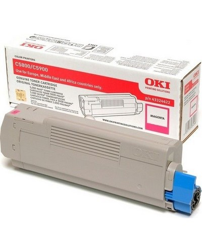 Oki C5550-5800-5900 - Toner Magenta 43324422 5.000 Seiten