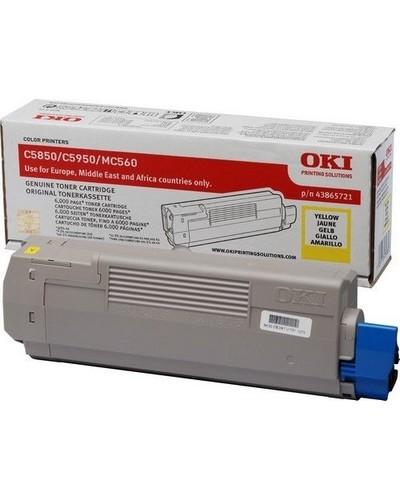 Oki C5850, 5950, MC560 - 43865721 Toner - 6.000 Seiten Yellow