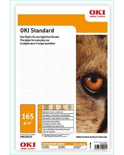 09624015 OKI Standard M-B-105 Banner 215 L - 105 g-m2 215 x 1.200 mm 500 Blatt - Matt beidseitig bedruckbar