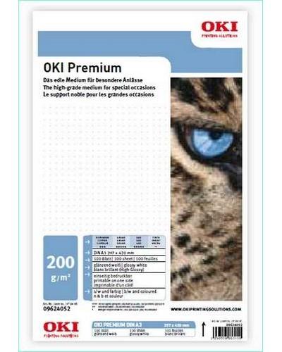 09624032 OKI Premium S-B-130 - A3 130 g-m2 297 x 420 mm 100 Blatt - Satiniert-Pearl Glossy beidseitig bedruckbar