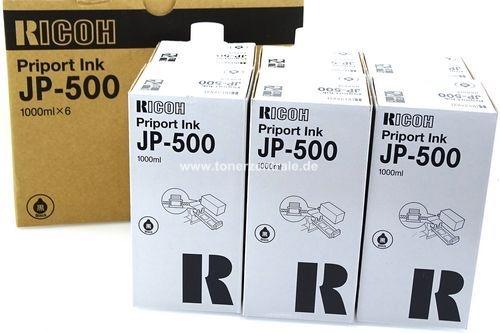 Ricoh Priport JP-5000-5500 - JP550B Tinte 6 x 1000ml Schwarz