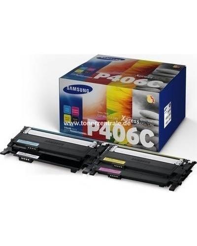 Samsung Multipack CLTP406C HP SU375A Schwarz, Cyan, Magenta, Yellow