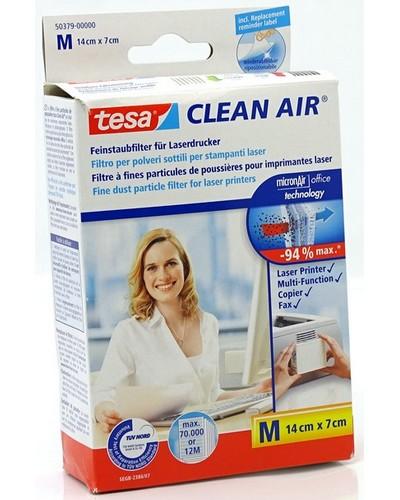 Tesa Feinstaubfilter Clean Air 50379 (Grösse-M, 14x7cm) für Laserdrucker, Fax- und Kopiergeräte