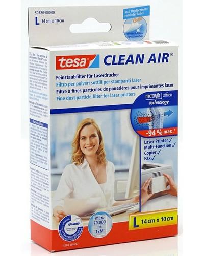 Tesa Feinstaubfilter Clean Air 50380 (Grösse-L, 14x10cm) für Laserdrucker, Fax- und Kopiergeräte