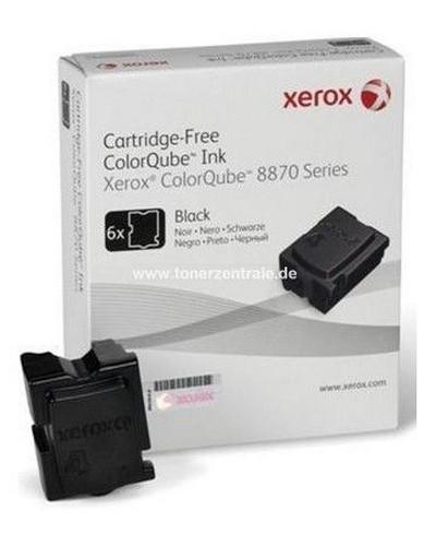 Xerox ColorQube 8870 - 108R00957 6 x 2783 Seiten Ink Sticks - Schwarz
