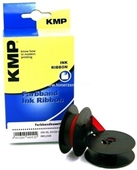 KMP 0001.0102 - Farbband DIN Doppelspule - 13mm-10m - Nylon Schwarz-Rot